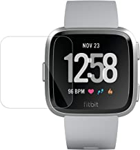 [3 Pack] Screen Protector Compatible with Fitbit Versa & Versa Lite Edition,Waterproof Tempered Glass Scratch Resist Anti-Bubble Screen Protector Compatible with Fitbit Versa Smart Watch