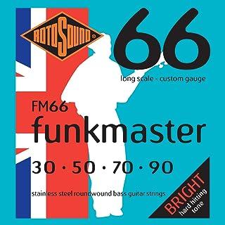 Rotosound Funkmaster - Cuerdas de acero para bajo eléctrico (entorchado redondo, calibres: 30/50/70/90)