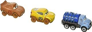 Disney Pixar Cars Mini Racers Vehicles, 3 Pack - Muddy Cruz, Muddy Lightning McQueen, Mr Drippy Exclusive