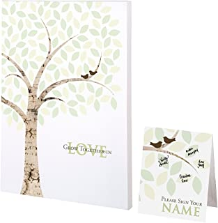 Lillian Rose Wedding Guest Book Alternative Signing Tree Canvas, Multicolor