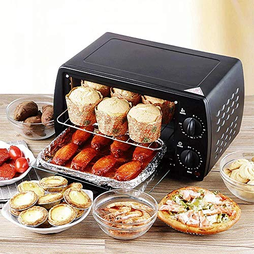 Toaster, Mini Broodrooster Oven for brood, Bagels, Cookies, Pizza, panini's & More Met bakplaat, Rack, automatische uitschakeling