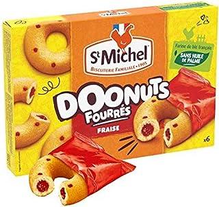 ST MICHEL Gâteaux Doonuts Fourres Fraise Sachets x 6 180 g