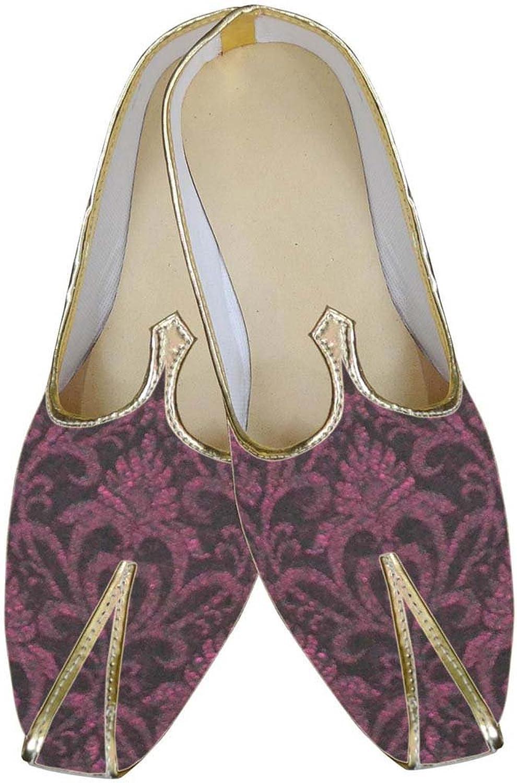 INMONARCH Mens Burgandy Ethnic Wedding shoes MJ0134