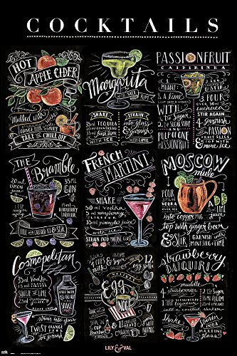 Lily & Val - Cocktails - Mixdrink - Poster Druck 61x91,5