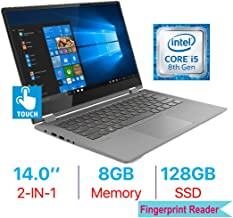 Lenovo Flex 6 14'' 2-in-1 FHD (1920x1080) Touchscreen IPS Laptop PC, Intel Quad Core i5-8250U, Bluetooth, WiFi, HDMI, Backlit Keyboard, Fingerprint Reader, Windows 10, 8GB DDR4 RAM 128GB SSD