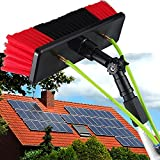 Detergente Fotovoltaico Strumento Pulizia Pannello Fotovoltaico, Spruzzo d'Acqua Spazzola Pulizia Vetro Asta di Lavaggio,Pennello per la pulizia / 30cm brush head / 12M