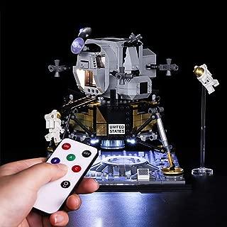 RAVPump Light Set for NASA Apollo 11 Lunar Lander Blocks Model - LED Light Kit Lighting Kit Compatible with Lego 10266 ( Lego Set not Included )