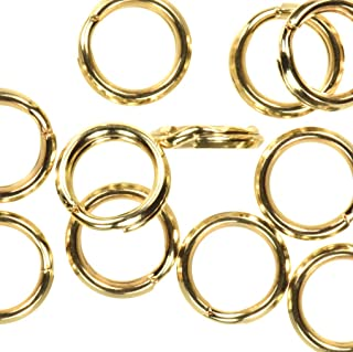 12 14K Gold Filled 6mm Round Split Rings Wire Charm Connectors