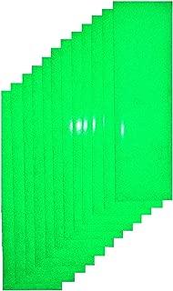 Qbc Craft Green Reflective Adhesive Vinyl Tape (12 Sheets) 3.5