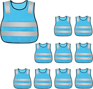 AIEOE Child Safety Vest Reflective Vest High Visibility Strip Stretch Waistband 10 Packs
