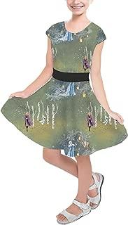 Rainbow Rules Enchanted Forest Frozen 2 Disney Inspired Girls Short Sleeve Skater Dress