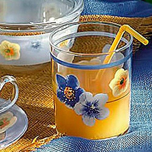 Confezione da 3 BICCHIERI acqua bibita BEVANDA cocktail da 29cl della Luminarc modello Poème Blue