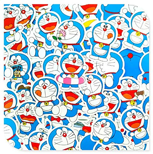 Doraemon Hand Account Small Stickers Notebook Computer Charging Treasure Mobile Phone Shell Desktop Guitar Surface Decoration 60 Sheets