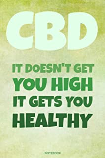 CBD It Doesn't Get You High It Gets You Healthy: Medical Marijuana Notebook for CBD Oil Lover, Cannabis Patients, Gift Birthday Book Sativa CBD ... Weed Log I Size 6 x 9 I Ruled Paper 110 Pages