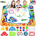Hommate Water Doodle Mats Drawing Mat Multicolor Large Size 40 x 28 Inch Sea World Educational Learning Birthday Toys Gifts for 2 3 4 Years Old Girls Boys Tolddlers Kids (Multicolor)