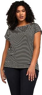 Fiorella Rubino : T-Shirt a Righe Lurex Donna (Plus Size)