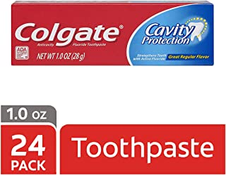 Colgate Cavity Protection Toothpaste with Fluoride - 1 Ounce (24 Pack)