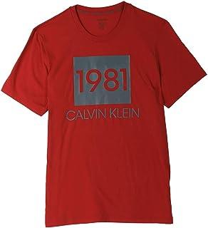 كالفن كلاين تي شيرت للرجال - M - احمر