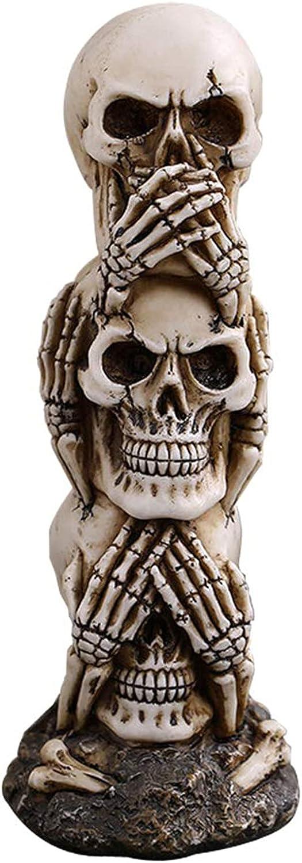 SMeijiaer Halloween Skeleton Head In a popularity Decoration Fake Skel Seattle Mall