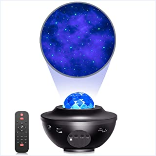 Star Projector Night Light Projector with Ocean Wave Projector Bluetooth Music Speaker for Baby Bedroom,Game Rooms,Party,Home Theatre,Night Light Ambiance
