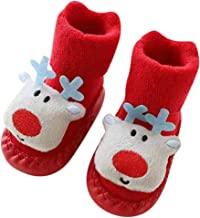 Zerototens Baby Christmas Socks,0-24 Months Toddler Kids