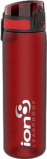 ion8 auslaufsichere Schlanke Wasserflasche/Trinkflasche, BPA-Frei, 500ml / 18oz, Chili-Rot