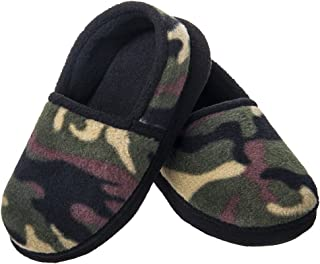 Festooning Boys Kids Winter Warm House Slippers Fleece Memory Foam Indoor Shoes