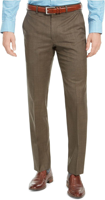 Ralph Lauren Lauren Double-Pleated-Cuffed Taupe Microfiber Pants