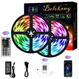 Beloksny LED Strip Lights Bluetooth, 32.8ft 12V 300 LEDs Rope Lights IP65 Waterproof Music Sync Color Changing LED Tape Lights with Smart-Phone APP Controlled for Home, Bedroom, Kitchen, Party