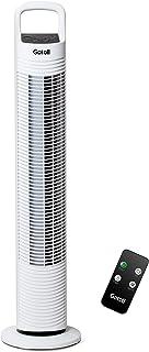 Gotoll Ventilateur Colonne Télécommande, Ventilateur Tour Oscillation Silencieux, Minuterie, 3 Vitesses Hauteur 81cm - Blanc