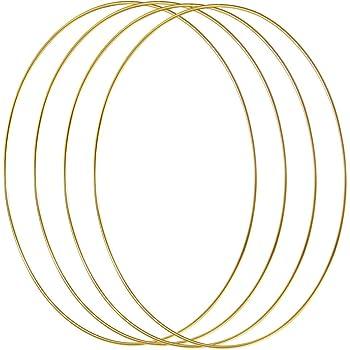 Celyoce Lot de 2 anneaux en m/étal pour attrape-r/êves 35 cm