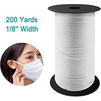 Amazon Com Volador 200 Yard 1 8 Inch Width Knitted Elastic Band