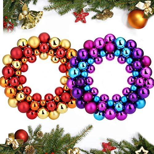 2.7 M argent Suspendu Guirlande De Perles Arbre de Noël Xmas Party Décoration chaîne
