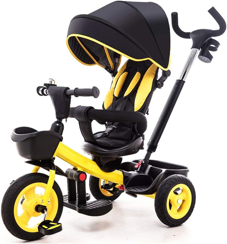 orden en línea NBgy Triciclo, Triciclo Multifuncional 4 En En En 1 con Asiento Giratorio, Diseño De Asiento Bidireccional, Triciclo Exterior para Bebé, Amarillo, (80-84) X87x59cm  ordene ahora los precios más bajos