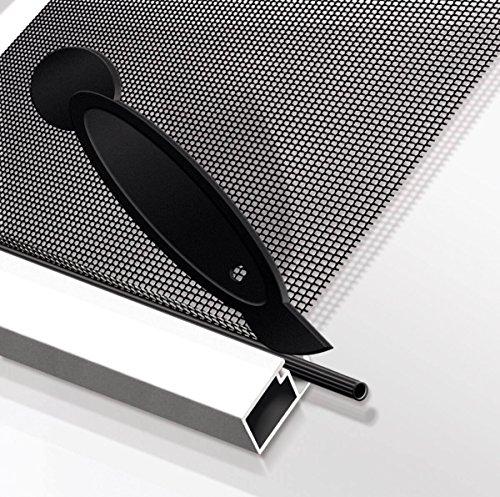 Schellenberg 70107 Reparatur-Keder Kedergummi für die Reparatur von Insektenschutz-Fenstern und -Türen, inklusive Kederwerkzeug