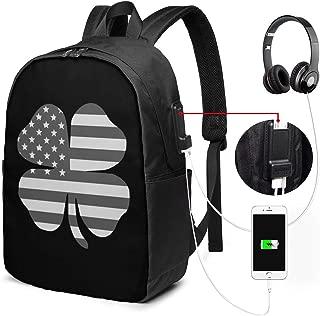 Black Clover backpack multifunction USB charging Headphone Schoolbag Charging