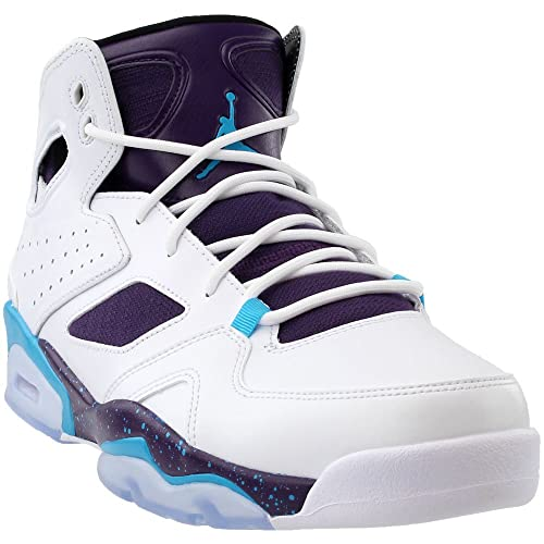 8127a428d346 Jordan Mens Flight Club 91 White Blue Lagoon Purple Black Size 11.5