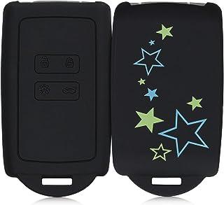 kwmobile Funda de Silicona Compatible con Renault Llave de Coche Smart Key de 4 Botones (Solo Keyless Go) - Carcasa para L...