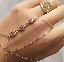 Sea Shell Adjustable Slave Bracelet Hand Chain| 925 Sterling Silver