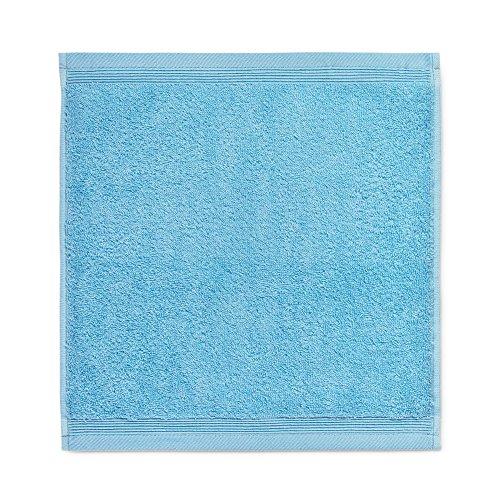 möve 017258775-030030-194 serviette lavette, Turquoise, 30 x 30 cm