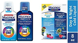 Cold Cough & Flu Mucinex Fast-Max All in One Day/Night Time with Children's Multi-Symptom Day/Night Liquid