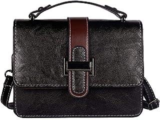 Wultia - Bags for Women Men 2019Woman Fashion Button Simple Design Shoulder Bag Messenger Bag Bolsa Feminina Black