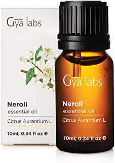 Neroli Essential Oil - 100% Pure Therapeutic Grade for Face, Skin and Diffuser (10ml) - Gya Labs