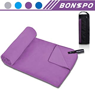 BONSPO Microfiber Towel Quick Dry Beach Camping Gym...