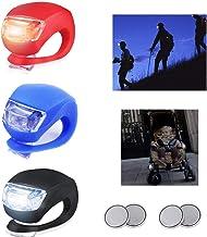 ZYFB Kinderwagen Licht, Fahrrad-Rückleuchten, LED Blinklicht Clip-On Sicherheitslicht, wasserdicht Fahrradlicht, sicheres und ungiftiges Silikon Licht,6 Packungen