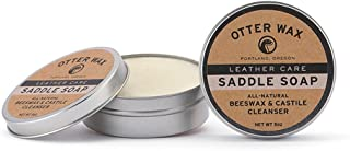 Otter Wax Saddle Soap | 5oz | All-Natural Universal Leather Cleaner | Made in USA
