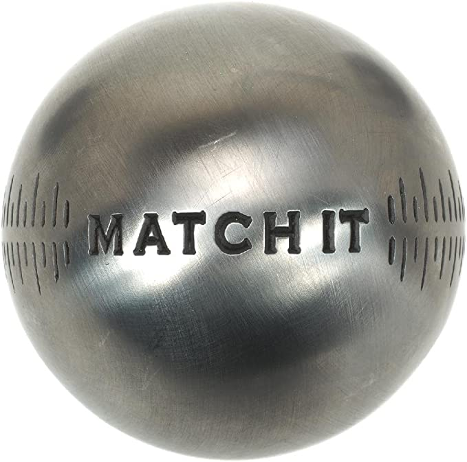Match it INOX 74mm m/Éta Obut Boules de p/étanque