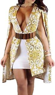 maweisong 女性コートケープブレザーショールスプリットスリーブクロークジャケット