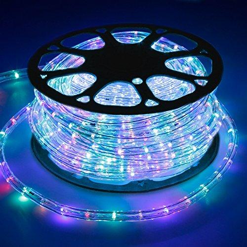 ECD Germany LED Lichtschlauch Lichterschlauch 30 Meter - RGB/Bunt - 36 LEDs/m - Innen/Aussen - IP44 - Lichterkette Lichtband Licht Leucht Dekoration Schlauch Leiste Streifen Strip