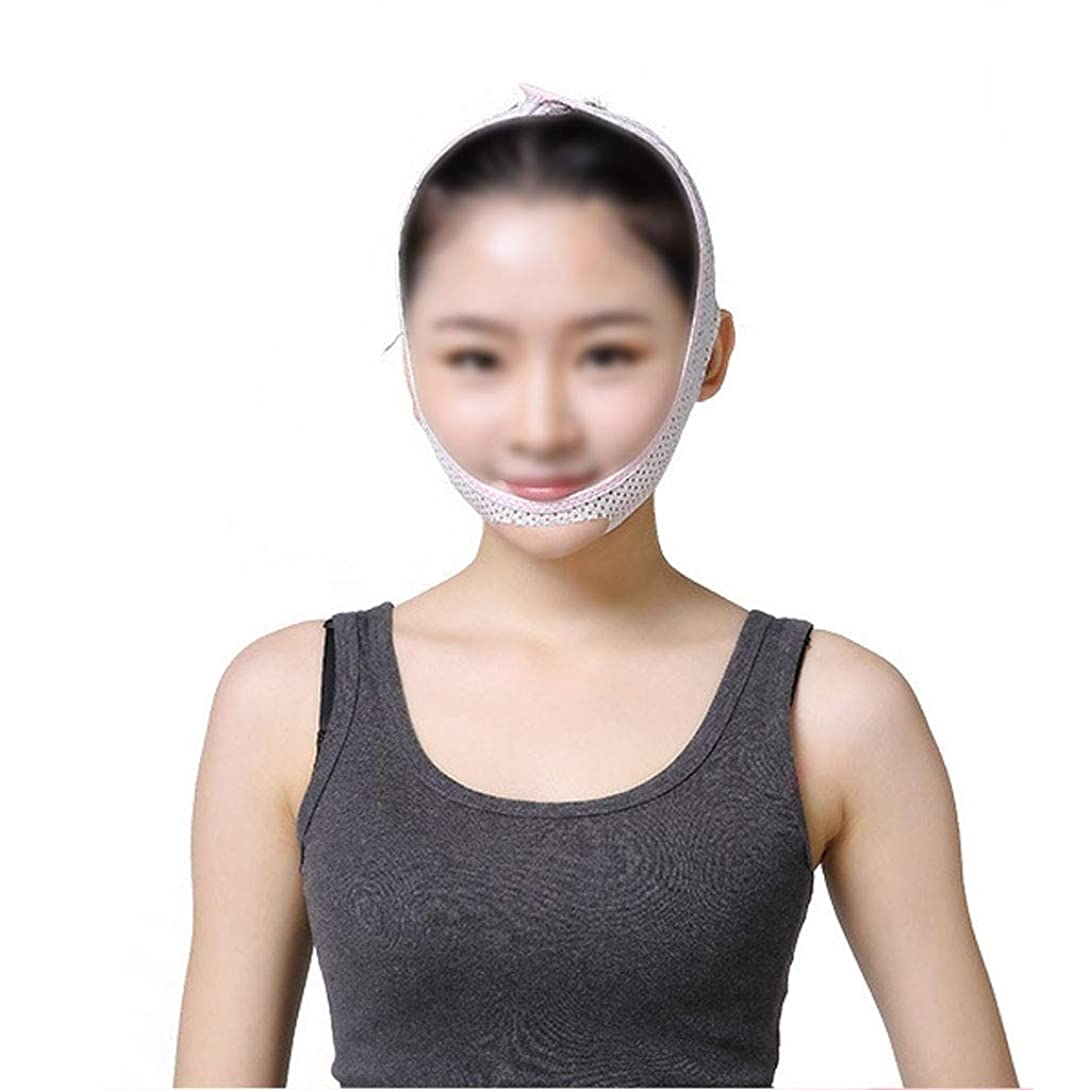 理論的探す髄フェイスリフティングマスク、快適で リフティングスキンファーミングスリープシンフェイスアーティファクトアンチリンクル/リムーブダブルチン/術後回復マスク(サイズ:M)